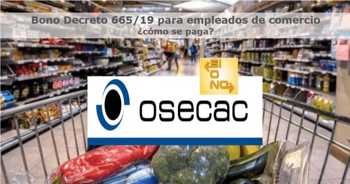 Bono Decreto 665/19 para empleados de comercio