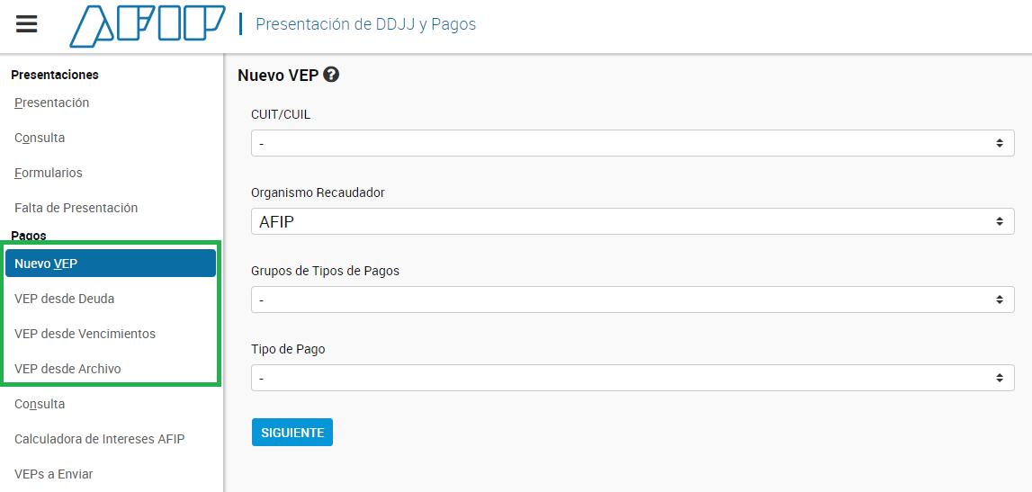 nuevas modalidades para generar vep